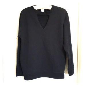 Tops - Cutout choker sweatshirt